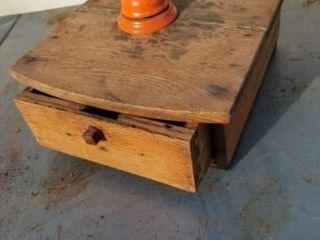 Old Wood drawer School Bell Ringer