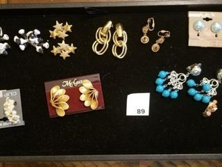 Clip earrings   9 sets