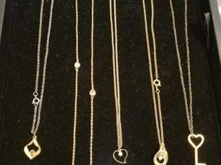 gold tone pendant necklaces