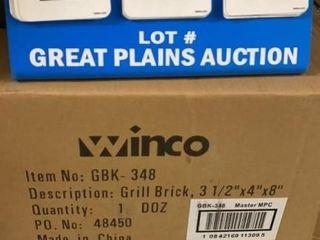 Case of Winco Grill Bricks