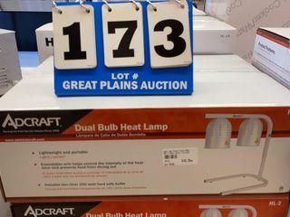 Adcraft Dual Bulb Heat lamp