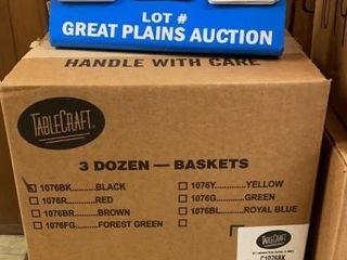 3 Dozen Tablecraft Plastic Baskets