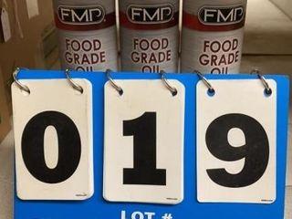 3 Cans FMP Food Grade Oil