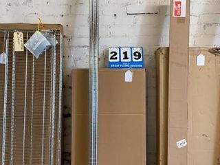 lot of 3 Metal Shelves with 86IJ Posts