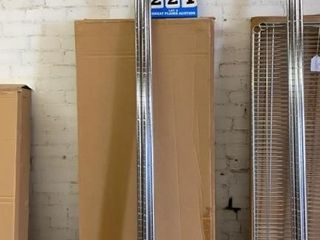 Set of 4 Metal Shelves with 86IJ Posts