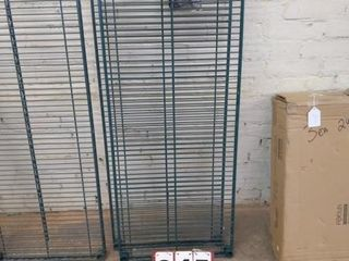 Two Green Epoxy Wire Shelves