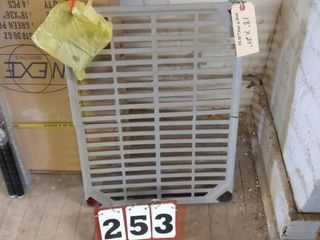 One Metal Shelf w  Plastic Covers
