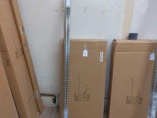 4 Chrome Plated Wire Shelves  4 Chrome Posts