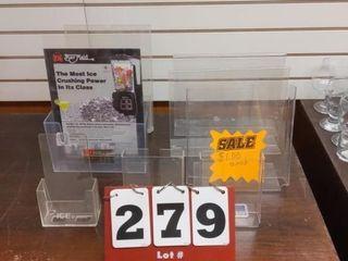 Plastic sign holders  flyer holders
