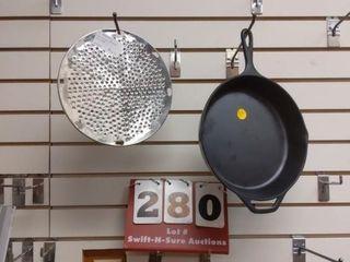 Plastic frying pan  Hobart grater plate