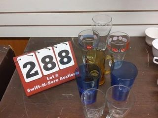 Three Coke glasses and Assorted glasswars