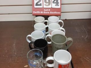 12 assorted coffee cups