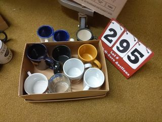7 assorted coffee cups