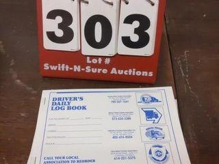 9 driver s log books