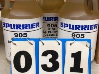 Three Bottles Spurrier All Purpose Cleaner