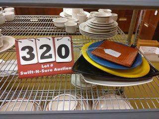 5 assorted glass serving platters