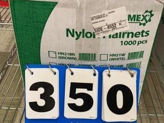 1 Case Ammex Nylon Hair Nets