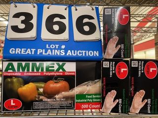 4 Boxes Ammex Disposable Gloves