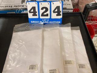 4 White Bib Aprons