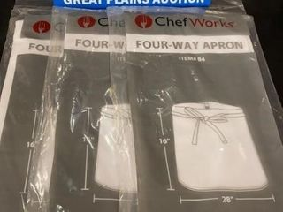3 Chef Works 4 Way Aprons