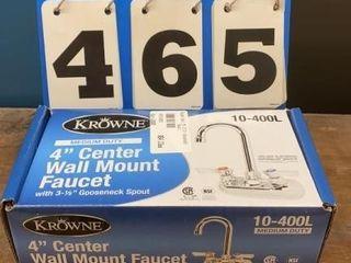 Krowne 4IJ Center Wall Mount Faucet