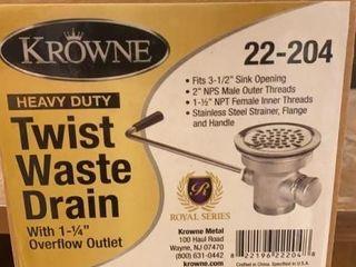 lot of 3 Krowne 3 5  Twist Waste Drains