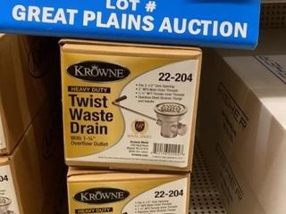 lot of 3 Krowne 3 5IJ Twist Waste Drains