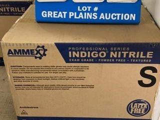 Case of Ammex Indigo Nitrile Gloves