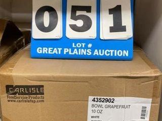 Case of Carlisle Melamine Grapefruit Bowls