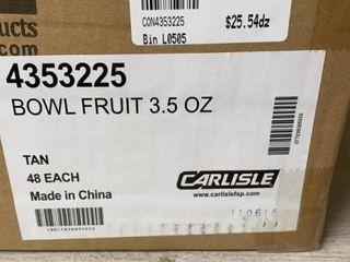 Case of Carlisle Melamine Fruit Bowls