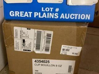 Case of Carlisle Melamine Bouillon Cups