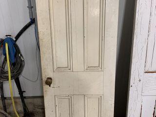 ANTIQUE DOOR WITH ARTISANAl KNOW   32 X79