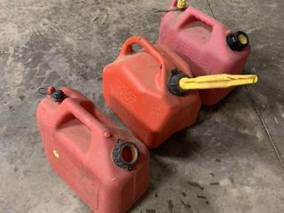 3 MEDIUM SIZE GAS CANS