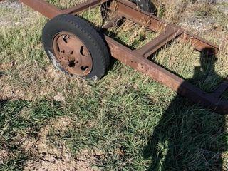 SOlID TRAIlER FRAME   AXlE NEEDS TO BE REATTACHED