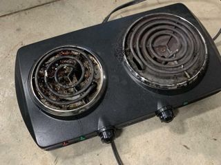 2 BURNING ElECTRIC STOPE TOP