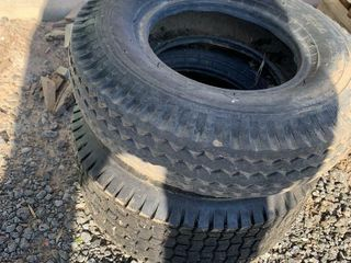 2 SMAll TIRES   DIFFERENT SIZES