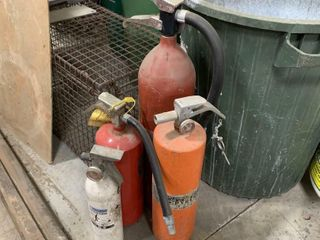 4 ASSORTED FIRE EXTINGUISHERS