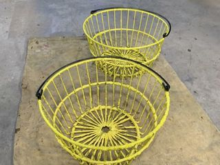 YEllOW NEWlY PAINTED EGG BASKETS