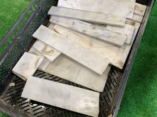 BOX OF MARBlE PIECES