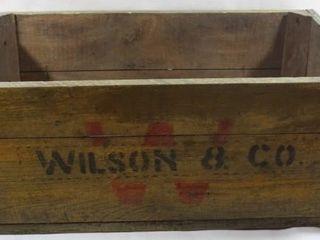 WIlSON   CO WOODEN CRATE