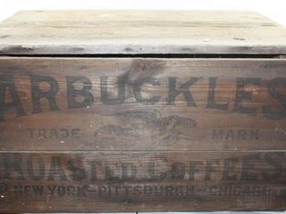 ARBUCKlES ROASTED COFFEES WOODEN CRATE