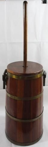 WOODEN BUTTER CHURN WITH STOMPER