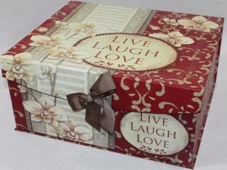 lIVE  lAUGH  lOVE STORAGE BOXES