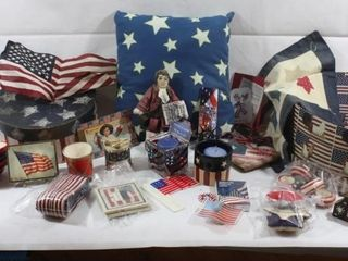 AMERICA 4TH OF JUlY DECORATIVE ITEMS