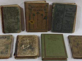 COllECTION OF 7 VINTAGE EDUCATIONAl BOOKS