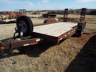 Jackson heavy duty trailer 89 x20  fold up ramps