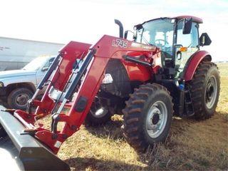 Case 120A Farmall tractor with l745 loader   bucke