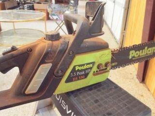 Poulan 16  electric chain saw  runs