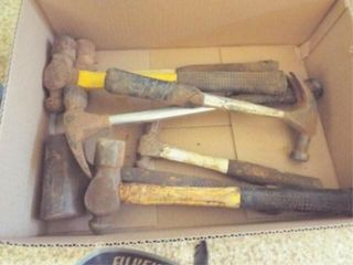 Box of assorted Hammers