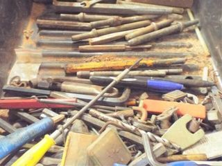 Punches drill bits allen wrenches